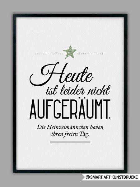 """""""HEINZELMÄNNCHEN+/+AUFGERÄUMT""""+Kunstdruck+von+SMART+ART+Kunstdrucke+®+auf+DaWanda.com"""
