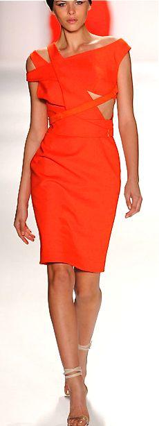 Kaufmanfranco, 2014 sexy orange dress. http://www.missKrizia.com