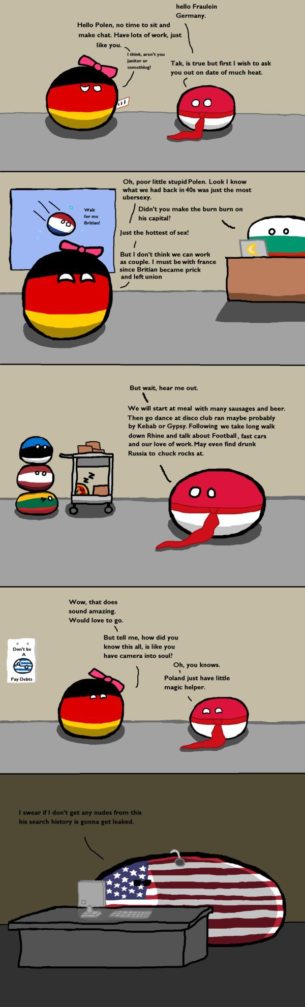Poland asks Germany on a date of much heat | Polandball Comics