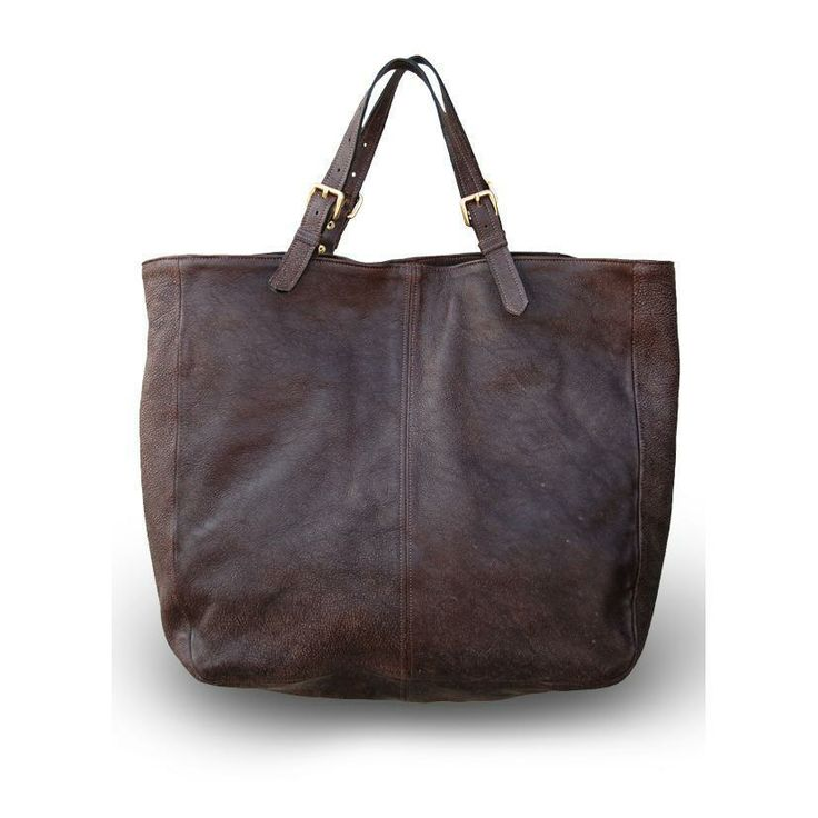ekzyle.com - Dark Brown Leather Tote, $444.00 (http://www.ekzyle.com/dark-brown-leather-tote/)