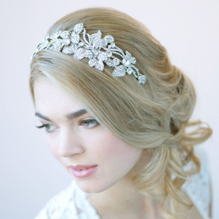 Etsy Floral Wedding Headband, Vintage Bridal Headband, Floral Wedding Headpiece, Bridal Headpiece, Bride  Affiliate