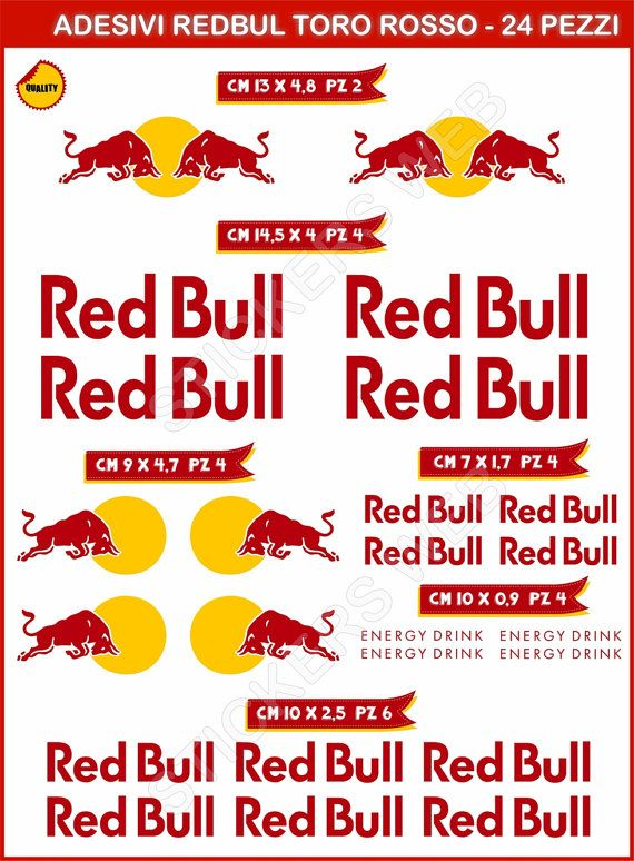 Adesivi Stickers RED BULL moto motorcycle decal di PIMAstickerslab