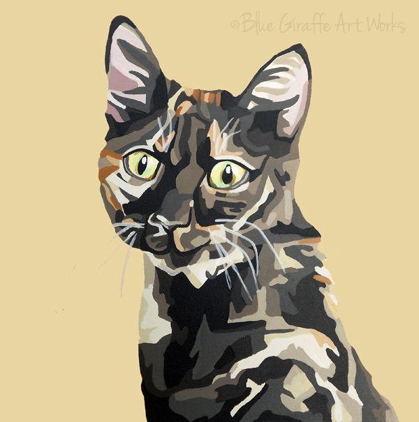 Acrilic Black Cat Pincher