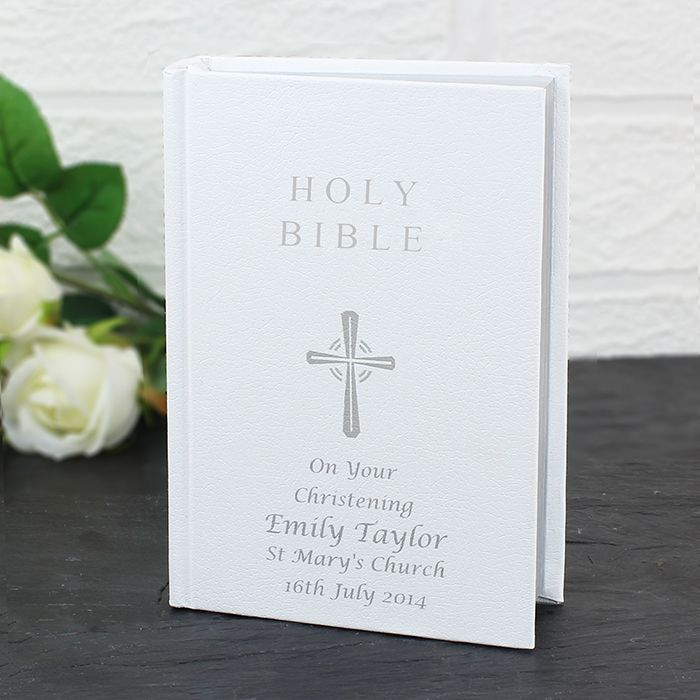 £29.95 Personalised Holy Bible http://justtherightgift.co.uk/personalised-holy-bible