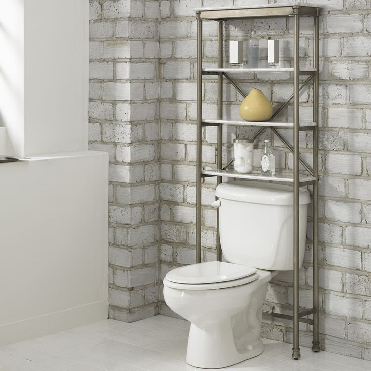 Striking Metal Shelving Design To Increase Your Storage Space: 1000+ Ideas About Over Toilet Storage On Pinterest