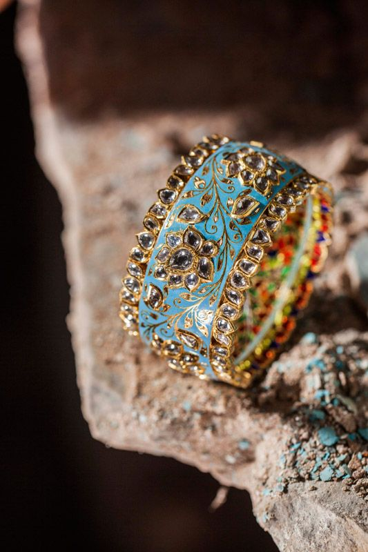 We love enamel! - Sunita Shekhawat Firoza collection