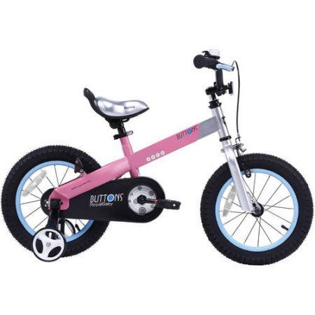 Royalbaby Matte Buttons 14 inch Kids Bike, Pink
