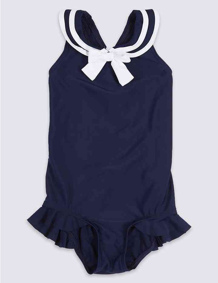 Sailor Bow Swimsuit (3 Months - 7 Years)