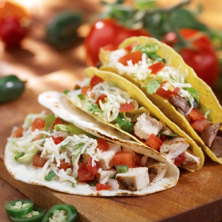 Build the perfect Taco…Adobe Chicken, black beans, Jack cheese, pico ...