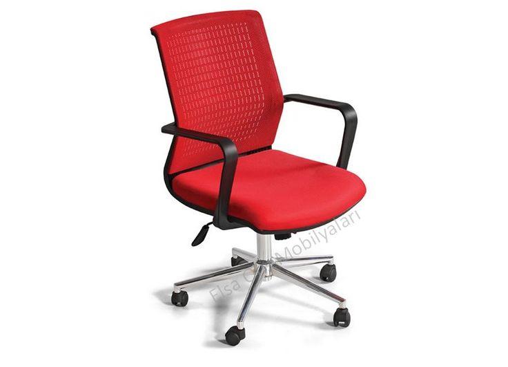 Fileli ofis koltuğu sırtla birleşik dayanıklı plastik kollu ve krom ayaklıdır. Arka font delikli plastik çizilmeyen malzemeyle donatılmış fileli ofis koltuğu.