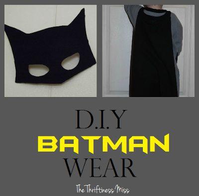 DIY Batman Wear: Cape and Mask for Kids
