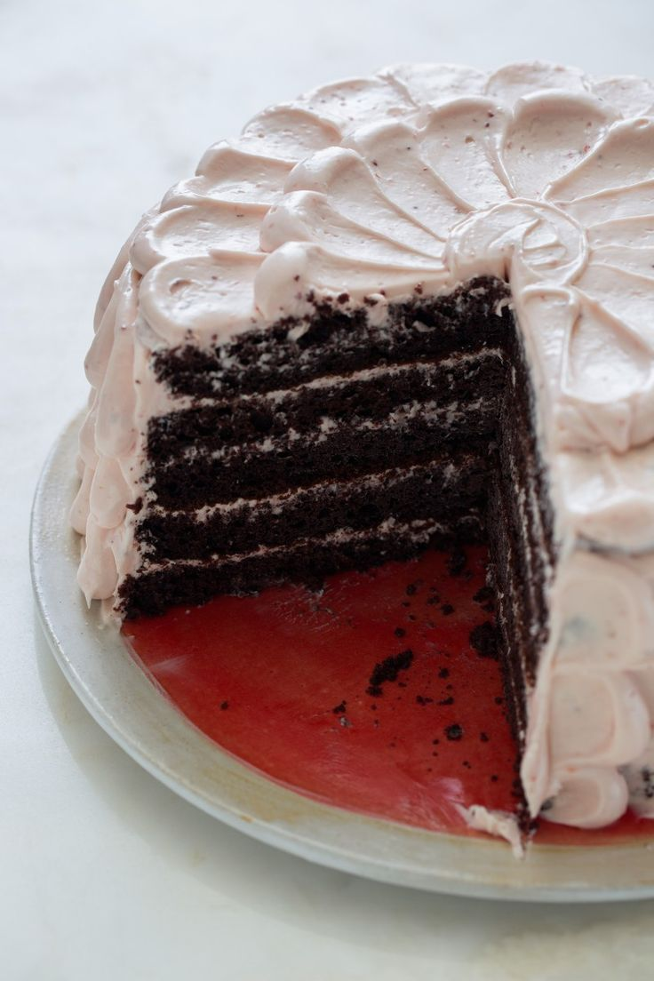 Devils Food Cake with Real Strawberry Frosting recipe. In cupcake form, with strawberry cream cheese frosting instead of buttercream?
