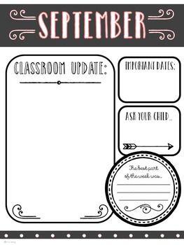 The 25+ best Classroom newsletter ideas on Pinterest | Monthly ...