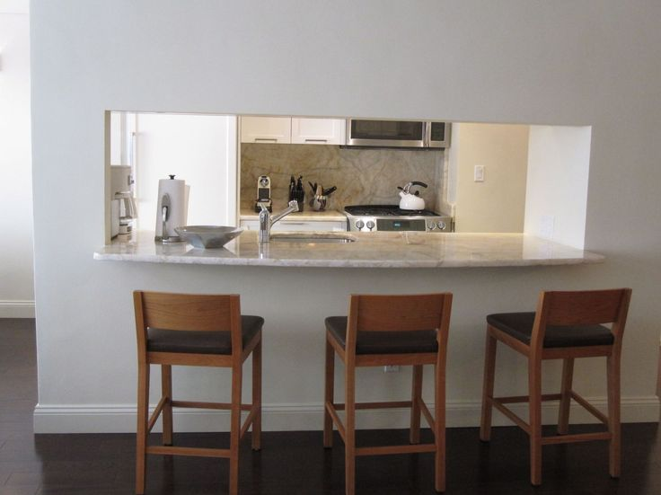 open kitchen to living room wall counter