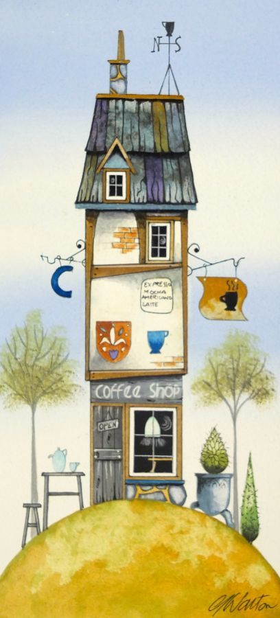 The Coffee Shop original by Gary Walton - £400