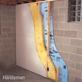 How to Finish a Foundation Wall - we need to do this in our basement garage/shop area.