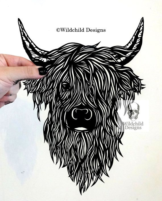 Commercial and Personal Use Highland Cow  by WildchildDesigns77