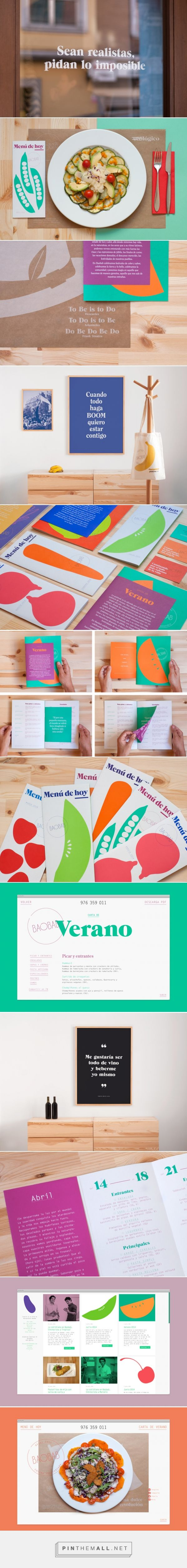 Baobab restaurant branding - Fonts In Use...
