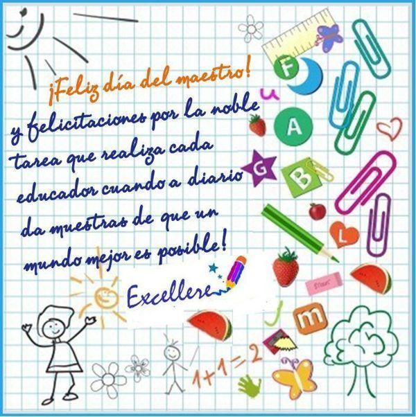 Día del Maestro. Feliz día del profesor.                              …