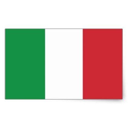 Sticker Italian flag. - #customizable create your own personalize diy