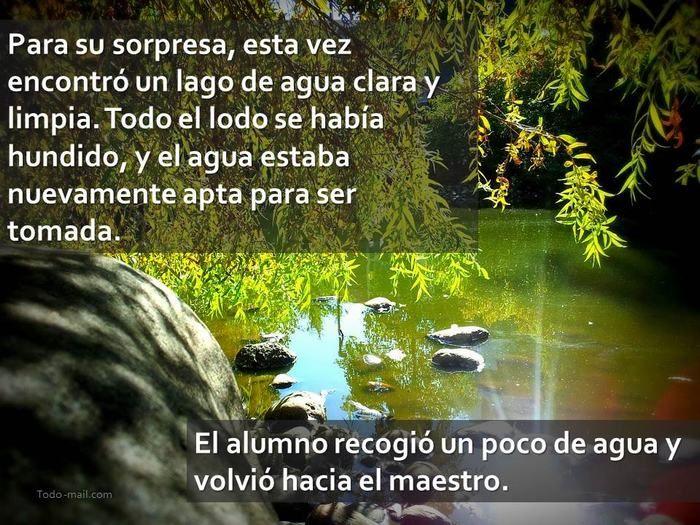 cuento, el sabio maestro y el río