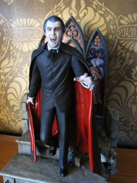 Taste the Blood of Dracula kit from Resin Crypt sculpted by Robert Price and painted by Stewart Jackson.