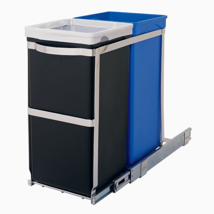 pull out garbage can | sliding recycling bin | pull out waste bin