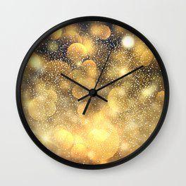 <b>golden</b> sparks <b>Wall</b> Clock Photography Film Digital <b>Color Golden</b> ...
