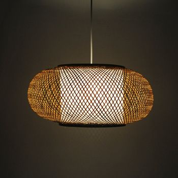 Free Shipping Chinese style rustic lantern bamboo rattan classical brief unique personality bedroom pendant light