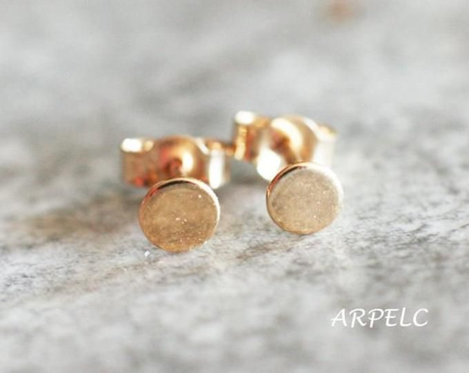 Rustic Copper Gifts For Women Cement Rose Stud Earrings Sterling Silver