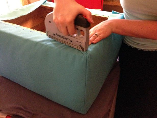 Step By Step How To Reupholster An Old Ottoman Diy