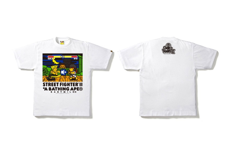 Bape x Street Fighter II 25th Anniversary T-Shirt Collection.