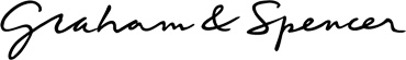 Graham & Spencer women's clothing. Surnames of the founders.