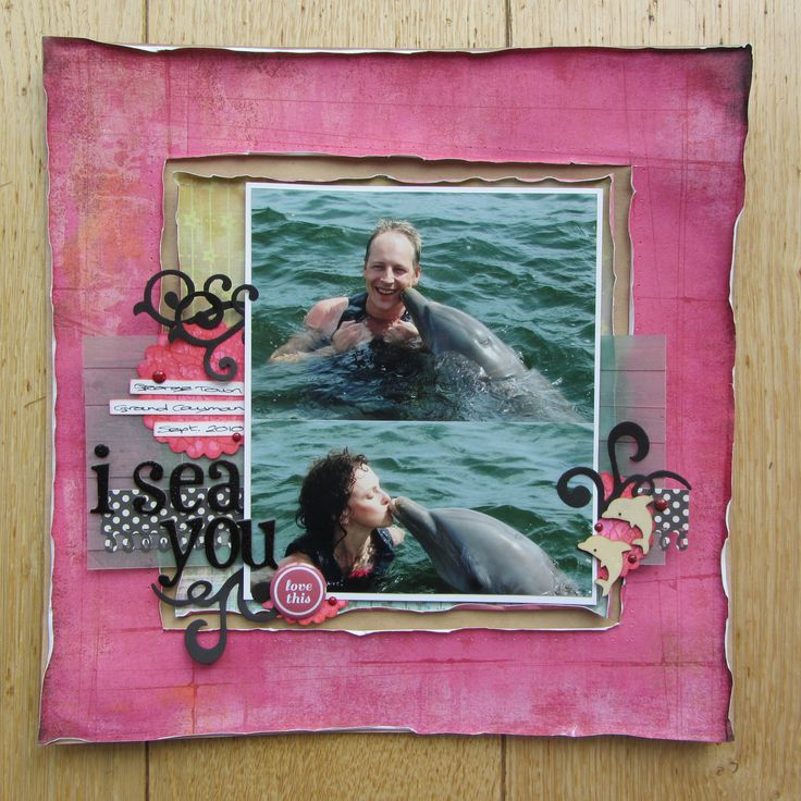 Scrapbook layout influenced by a Nic Howard Dimensional Details class I took with BigPictureClasses several years ago.
