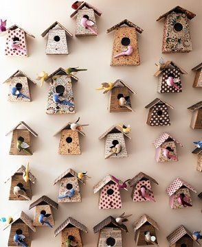 bird houses on your wall, why not?