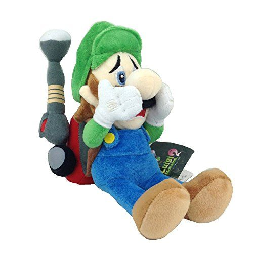 Luigis Mansion 2 Luigi Super Mario Bros Character Plush Toy Stuffed Animal with Vacuum Soft Figure D @ niftywarehouse.com #NiftyWarehouse #Mario #SuperMario #Nintendo #VideoGames #Gaming #MarioBrothers