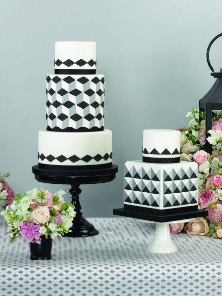 Geometric Wedding Cake Zoe Clark Cakes