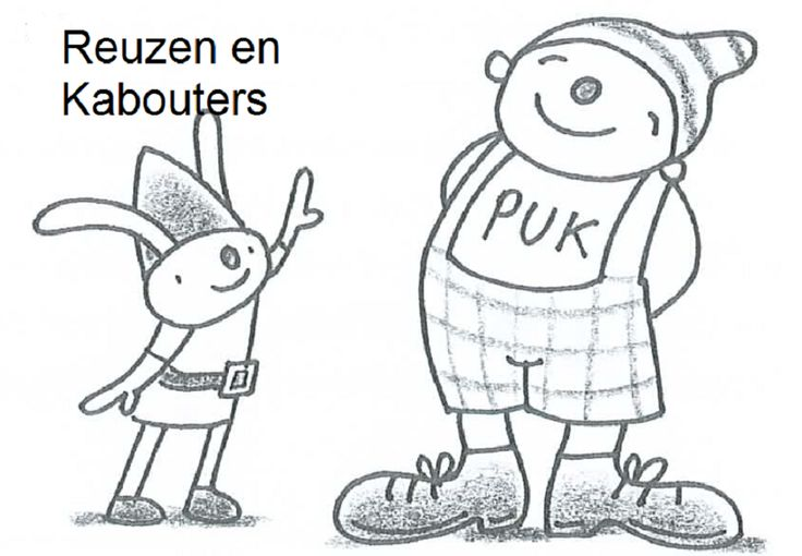 Thema REUZEN en Kabouters (uk en puk)