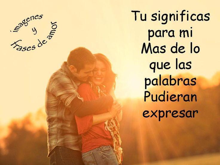 frases de amor --si, mi amor, mi Javier <3