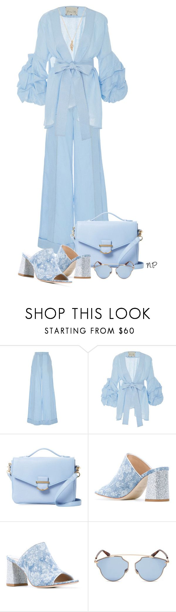 """Blau Cel"" by nuria-pellisa-salvado ❤ liked on Polyvore featuring Johanna Ortiz, Cynthia Rowley, Polly Plume, Christian Dior, StreetChic and johannaortiz"
