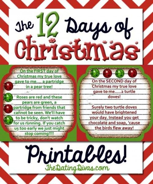 12 days of Christmas gift giving to a neighbor- all the printables you need to pull it off