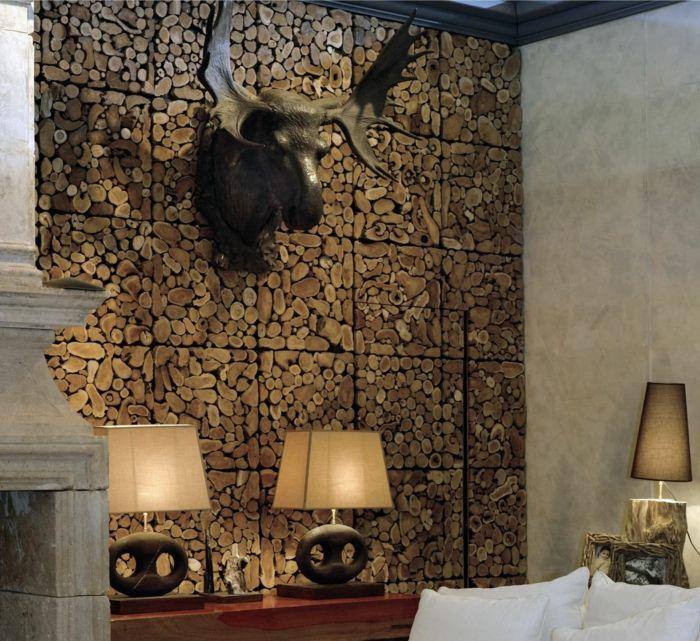 Wohnzimmer ideen wandgestaltung holz  Die besten 20+ Wandpaneele steinoptik Ideen auf Pinterest ...