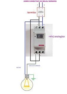 Esquemas eléctricos: reloj analogico conexion
