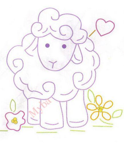 Sheep appliqué