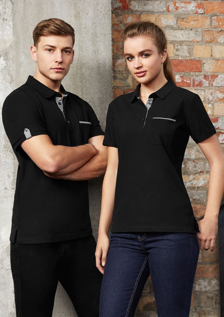 Mens and Ladies Polo with Check Cuff
