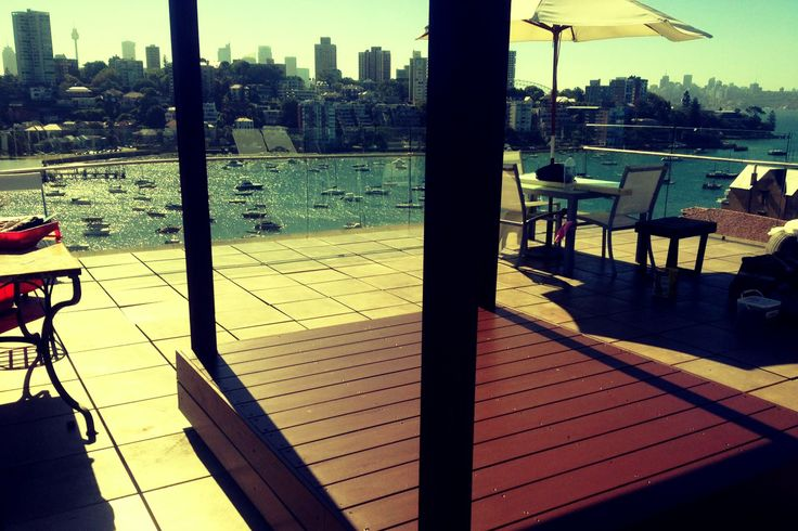 Only in Sydney! Yes your very own daybed platform to fit the view for kings and queens!