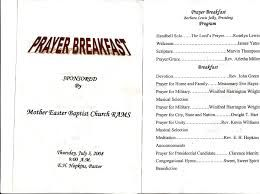Prayer Breakfast Program Sample Google Search Church