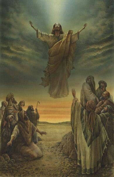 I just thought this picture, was a beautiful picture of the Ascension of Jesus.