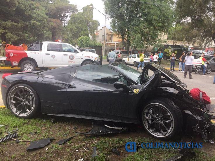 #DESTACADAS:  Se impacta un Ferrari contra una camioneta en Zapopan, Jalisco - colimanoticias