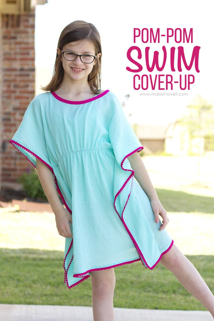 327 best sewing patterns bought or free images on pinterest diy pom pom swim cover up jeuxipadfo Images